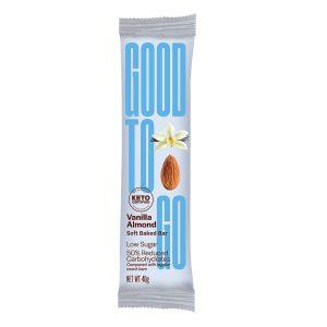 Good To Go keto proteino batonėliai, vanilės/migdolų skonio, 40 g