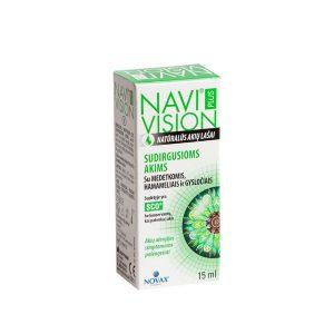 NAVIVISION PLUS natūralūs akių lašai sudirgusioms akims, 15 ml